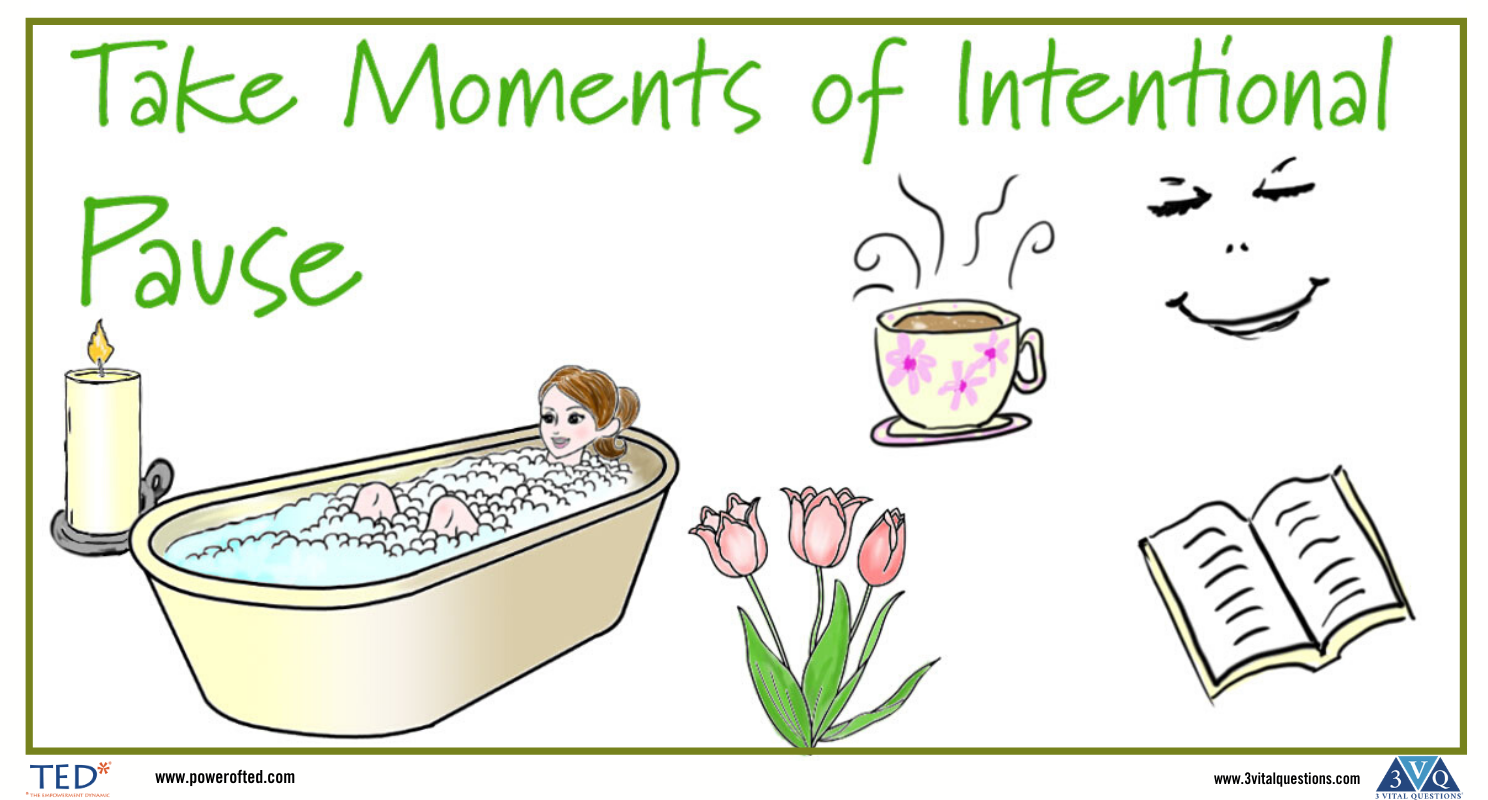 Take moments of intentional pause.