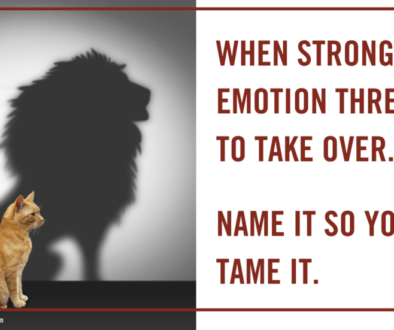 When strong emotions threaten to take over...name it to tame it.