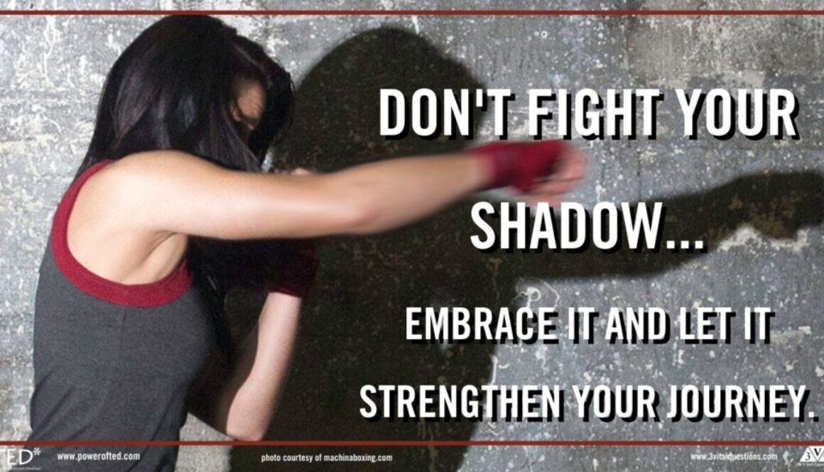 Don't fight your shadow...embrace it and let it strengthen your journey.
